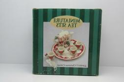 Christmas Cottage 1995 C & F Enterprises Miniature Resin Tea
