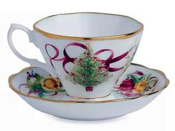 ROYAL ALBERT CHRISTMAS TEA CUP AND SAUCER SET - NIB