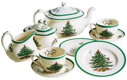 Spode Christmas Tree 11-Piece Children's Tea Set