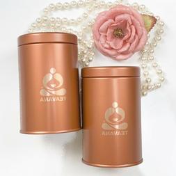 "TEAVANA Classic Style Empty Tea Containers Tins 4"" x 2.5"" se"