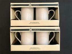 Ralph Lauren CLUB PORCELAIN Solid WHITE Set of 4 Tea / Coffe