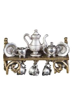 Victorian Trading Co Shelley Cooper Tea Time Tea set Shelf P