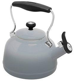 Chantal 37 OM FG Lake Teakettle Tea Kettle 1.7 Qt Faded Grey