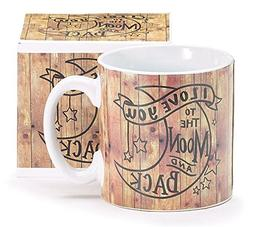 "Burton & Burton ""I Love You to the Moon & Back"" Coffee Mug,"