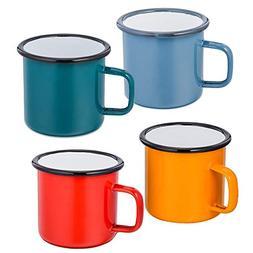 P&P CHEF Coffee Mug Set of 4,Enamel Tea Coffee Drinking Mugs