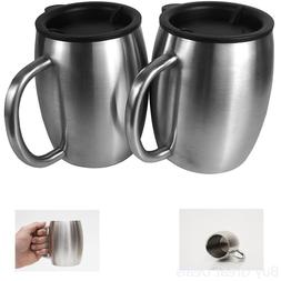 Coffee Mug Set of 2 Avito Stainless Steel 14 Oz Double Walle