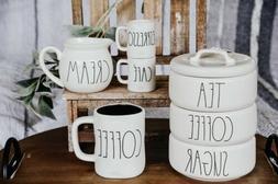 Rae Dunn COFFEE, SUGAR, TEA, CREAM, ESPRESSO, CAFE & COFFEE