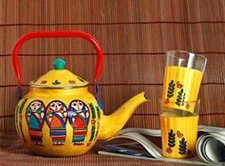 Coffee Tea Pot 33 Ounces  Tea Set with Tea Cups Set of 2