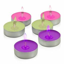 Decor Hut Color Flame Tea light Candles Set of 6 Glows Brigh