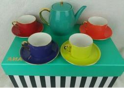 Teavana Colorful Teapot Tea Set 32oz. Amelia Collection 9 Pc