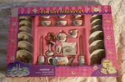 Complete Childrens Porcelain Tea Set Service For Six NOS