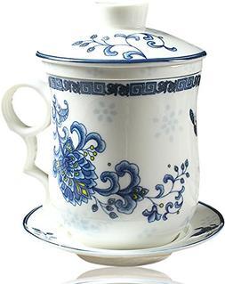 BandTie Convenient Travel Office Ceramics Teacup Loose Leaf
