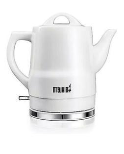 Bialetti Cordless 6-Cup White Ceramic Electric Kettle ~ Bran