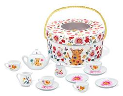 Counting In The Garden Deluxe Porcelain Tea Set 13 Pieces