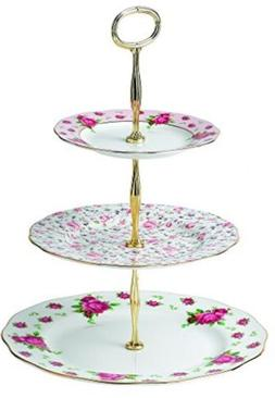 Royal Albert New Country Roses Vintage Formal 3-Tier Cake St