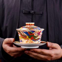 creative boutique gaiwan porcelain tureen with cup saucer dr