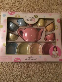 Creative Design Cookin' for Kids 13 Pc Porcelain Tea Set K