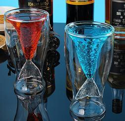 Creative Design Double-Layer Transparent Mermaid 2 Drinking