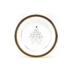 Noritake Crestwood Gold 9-Inch Holiday Accent Plates, Set of