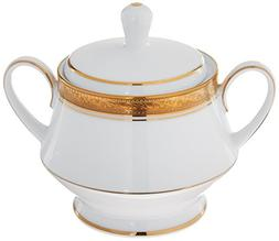 Noritake Crestwood Gold Sugar Bowl with Cover
