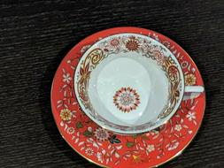 Wedgwood CRIMSON ORIENT Tea Cup and Saucer Set - NEW IN BOX!