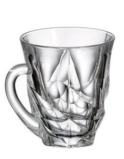 Crystal Glass Coffee Tea Set of 6 Cups Mugs 5 oz /150 ml Boh