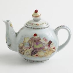 Cardew Cupcakes and Cookies 2-Cup Teapot, 18-Ounce