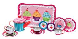 Cupcakes Tin Tea Set for Toy Dishes & Tea Sets NEW