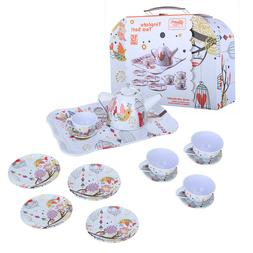 Curious Tin Tea Set Pretend Toy Dishes by Schylling Kids Pre