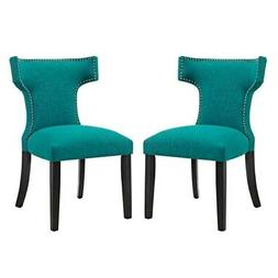 Modway Curve Mid-Century Modern Upholstered Fabric Two Dinin