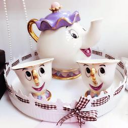 cute cartoon beauty and the beast coffee