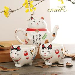 Cute Japanese Lucky Cat Porcelain <font><b>Tea</b></font> <f