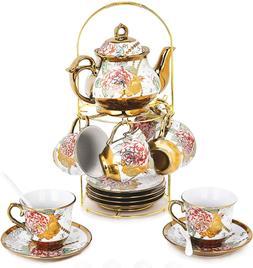 DaGiBayCn 20 Piece European Ceramic Porcelain Tea Coffee Set