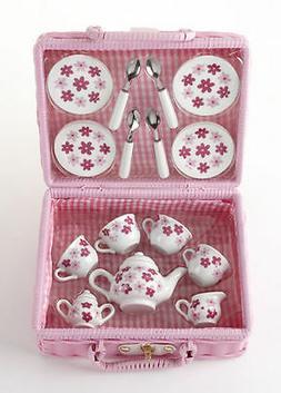 Delton Children's Porcelain Tea Set for 4--Small Size Set-Pi