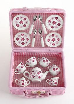 Delton Children's Porcelain Tea Set for 4--Small Size Set-Pi
