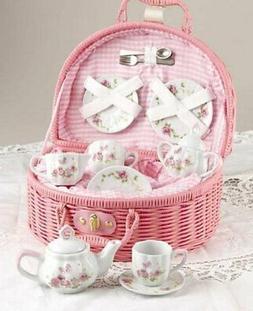 delton products rose tea set for 2