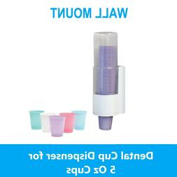 Dental Cup Dispenser for 5 Oz Cups, Wall Mount Cup Dispenser
