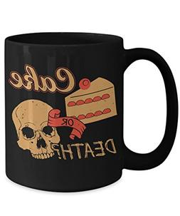 DIABETIC PASTRY CHEF COFFEE MUG -CAKE OR DEATH - professiona