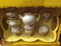 disney parks beauty and the beast tea set toy with sound chi