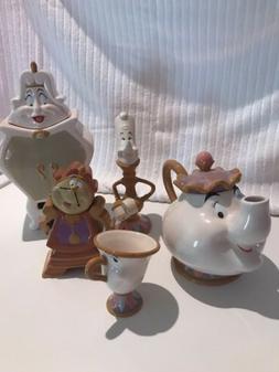 Disney Rare Beauty and the Beast 10th anniversary tea set Fr