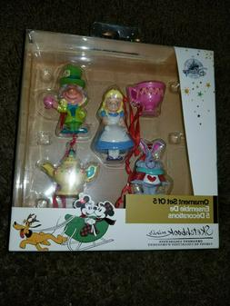 DISNEY SKETCHBOOK MINI ORNAMENT SET of 5 Alice in Wonderland