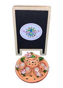 Dollhouse Miniature Food, Tea Cup Set, Dollhouse Kitchen Acc