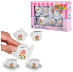 Dollhouse Porcelain Mini Tea Set Great for Pretend Play