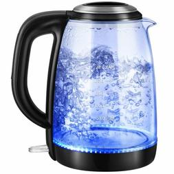 Electric 1.8L Glass Water Boiler Fast Boiling Tea Kettle w/B