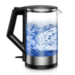 Electric Kettle BPA-Free Glass Tea Kettle with LED Fast Boil