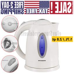 Electric Tea Kettle Hot Water Stainless Steel Cordless Pot F