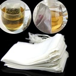 New 50Pcs Empty Teabags String Heat Seal Filter Paper Herb L