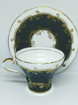 Aynsley England Bone China Corset- Shaped Tea Cup & Saucer S