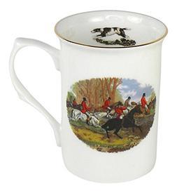 Adderley English Hunting Scene Gold Rimmed Coffee or Tea Mug