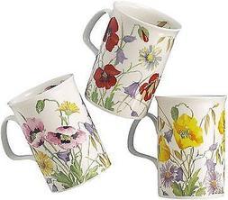 english meadow set of three assorted mugs